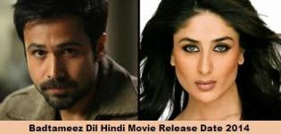 Badtameez Dil Hindi Movie Release Date 2014 - Badtameez Dil Bollywood Film with Cast Crew Details