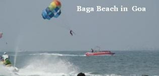 Baga Beach in North Goa India - Information - Attraction - Details - Photos