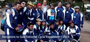 Bangalore to Goa National Cycle Expedition 2014 by Sky High Adventure Club & Lions Club