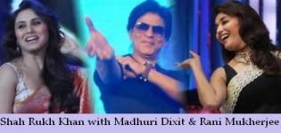 Shah Rukh Khan with Madhuri Dixit and Rani Mukherjee Performance in Australia