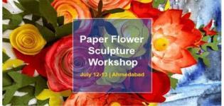 Beautiful Paper Flower Sculpture Art Learning Workshop arrange in Ahmedabad