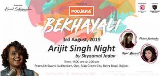Bekhayali 2019 - Arijit Singh Night by Shyaamal Jadav in Rajkot on 3rd August