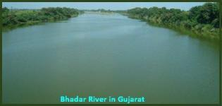Bhadar River near Rajkot in Gujarat - Information - Images - Details
