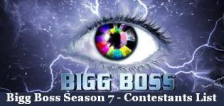 Bigg Boss Season 7 Contestants List - Bigg Boss Season 7 Participants Names