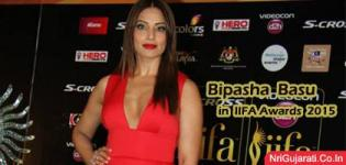 Bipasha Basu at IIFA Wards 2015 Photos - Hot Pics in Deep Neck Red Evening Gown