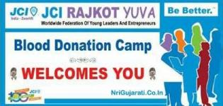 Blood Donation Camp in Rajkot Gujarat by JCI Rajkot Yuva Group - 21st December 2014