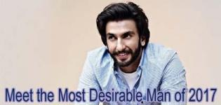 Bollywood Actor Ranveer Singh is voted as the Most Desirable Man of 2017 by Times