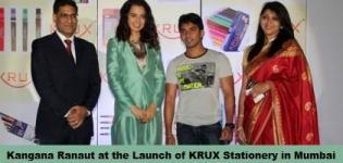 Bollywood Actress Kangana Ranaut at the Launch of KRUX Stationery in Mumbai