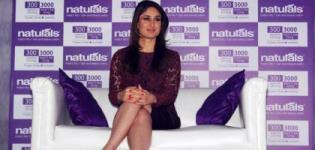 Bollywood Actress Kareena Kapoor Launched NATURALS Salon - Black Mini Skirt Short Dress Photos