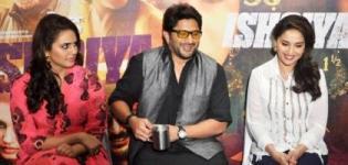 Bollywood Actress Madhuri Dixit in White Shirt Blue Pant Photos - Latest Pics of Dedh Ishqiya
