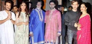 Bollywood Diwali Celebrations 2014 Pics - Party Pictures of Celebrity Actors Celebrating Diwali 2014