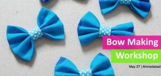 Bow Making Workshop 2017 in Ahmedabad at PH Designs