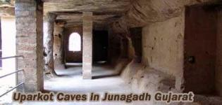 Buddhist Uparkot Caves in Junagadh Gujarat - Images - History Information