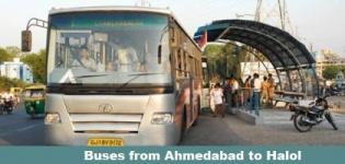 Buses from Ahmedabad to Halol - GSRTC and Private Luxury Buses Details