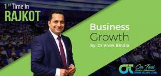 Business Growth Seminar by Very Popular Speaker Dr. Vivek Bindra in Rajkot