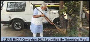 CLEAN INDIA Campaign 2014 Launched by Narendra Modi on Mahatma Gandhi Jayanti