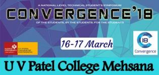 CONVERGENCE 2K18 in Mehsana at U V Patel College of Engineering