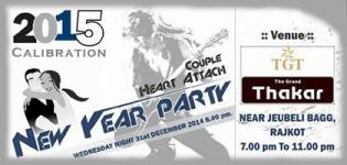 COUPLE HEARTH ATTACH - New Year Party 2015 in Rajkot at Hotel The Grand Thakar by Xclusive Event
