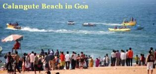 Calangute Beach in North Goa India - Information - Attraction - Details - Photos