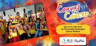 Canvas For Cancer, Painting Workshop for Charity Purpose arranged in Vadodara City