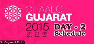 Chaalo Gujarat 2015 USA - DAY 2 Schedule