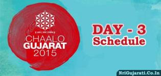 Chaalo Gujarat 2015 USA - DAY 3 Schedule