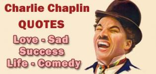 Charlie Chaplin All Types of Best Quotes on Comedy - Love Sadness - Life Success
