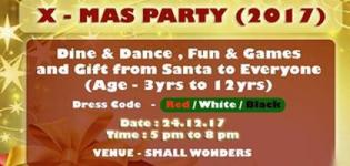 Christmas X MAS Party 2017 in Bhavnagar at Small Wonders