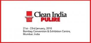 Clean India Pulire 2016 Mumbai - International Clean Show India