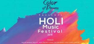 Color of Dreams - Holi Music Festival 2018 in Jaipur at Taj Jai Mahal Palace