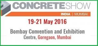 Concrete Show India 2016 Mumbai - Exhibition & Conference on Concrete Technology