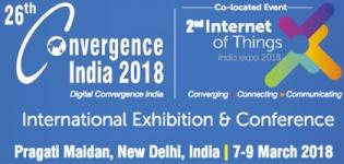 Convergence India 2018 in New Delhi - International Exhibition and Conference at Pragati Maidan