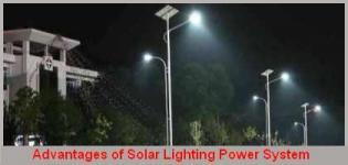 Benefits of Solar Street Light � Advantages of Solar Street Lighting System