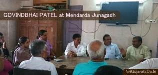 Current Krishi Agriculture Minister of Gujarat GOVINDBHAI PATEL at Mendarda Junagadh: June 2015