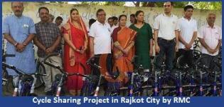 Cycle Sharing Project in Rajkot City Started by RMC on 19 April 2015