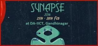 DA-IICT Presents Synapse 2016 in Gandhinagar on 25 to 28 February