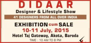 DIDAAR Designer & Lifestyle Exhibition in Baroda from 10 & 11 July 2015