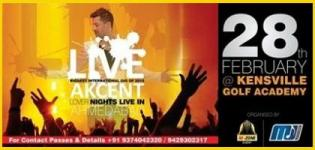 DJ AKCENT Lover Nights Live Performance in Ahmedabad on 28th February 2015