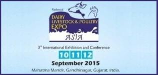 Dairy Livestock & Poultry Expo Asia 2015 - 3rd International Exhibition and Conference in Gandhinagar