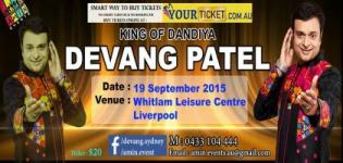 Dandiya King Devang Patel in Australia 2015 - Navratri Garba Event at Liverpool on 19th September