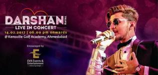 Darshan Raval Live In Concert 2017 in Ahmedabad at Kensville Golf Academy on 14th February