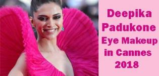 Deepika Padukone's Hot Look in Cannes Festival 2018 Wearing Pink Gown with Dark Smokey Eye Makeup