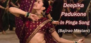 Deepika Padukone in Pinga Song Marathi Dance - New Look in Maroon Saree of Bajirao Mastani Movie 2015