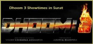 Dhoom 3 Showtimes Surat-Show Timing Online Booking in Surat Cinemas Theatres
