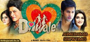 Dilwale Showtimes in Ahmedabad - Dilwale 2015 Movie Show Timings Ahmedabad Cinemas and Theaters