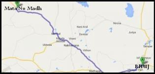 Distance From Bhuj to Mata no Madh-Bhuj to Ashapura Temple Distances
