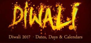 Diwali Holidays 2017 - Diwali Holiday Calendar India