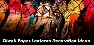Diwali Paper Lantern Craft - Aakash Kandil Designs for Deepavali - Lamp Decoration Images Patterns