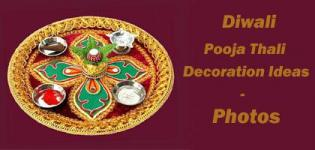 Diwali for Aarti thali decoration with grains