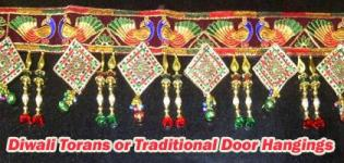 Diwali Torans or Traditional Door Hangings - Dipavali Decorative Ideas - Designs - Images - Crafts